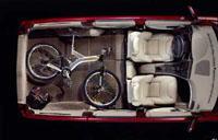 2001 Volvo V70 cargo space