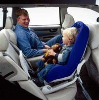 2001 Volvo V70 Child Seat