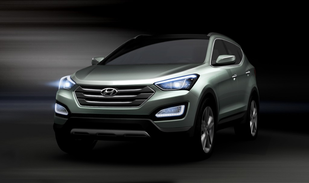 2013 Hyundai Santa Fe rendering