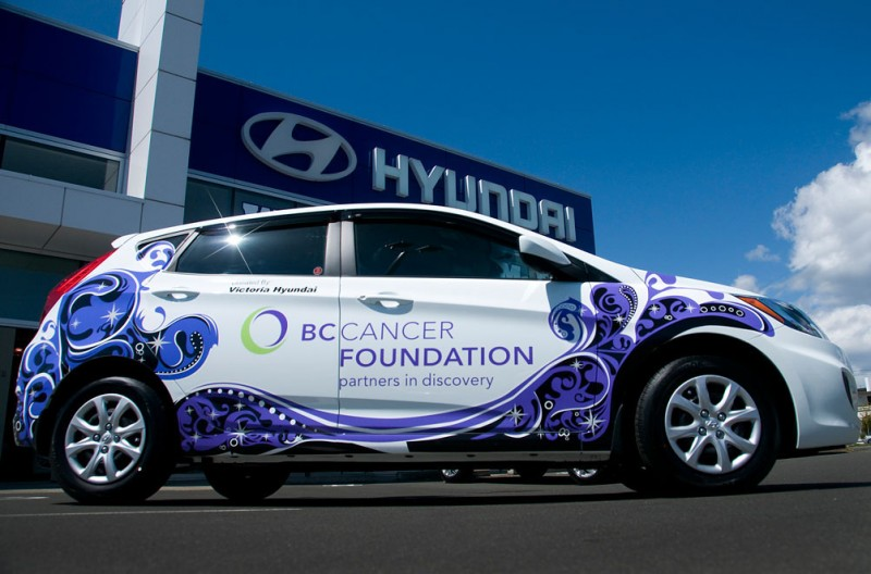 Victoria Hyundai Donating Accent for Cancer Research general news