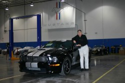 Carroll Shelby and the first production 2007 Ford Shelby GT which will go over the auction block in support of the Carroll Shelby Children's Foundation at the Barrett-Jackson Scottsdale Collector Car Event on Saturday, January 20th. (12/22/06)