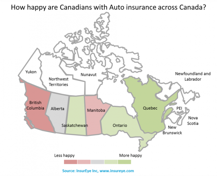 Quebecois Happy, British Columbians Not with Auto Insurance general news