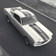 1st Shelby being built, Venice, CA, 1964. First Production Shelby Mustang GT350. CD#0777-3292-0895-6.