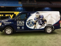 The Toronto Argonauts' Nissan NV