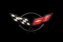 1997 Corvette Crossed Flag Logo