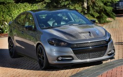 The Dodge Dart Carbon Fire is one of 24 custom vehicles that Mopar will bring to the 2012 Specialty Equipment Market Association (SEMA) show in Las Vegas. In addition to customized vehicles, Mopar will feature more than 500 parts and accessories throughout its exhibit. This year marks the 75th anniversary of the Mopar brand.