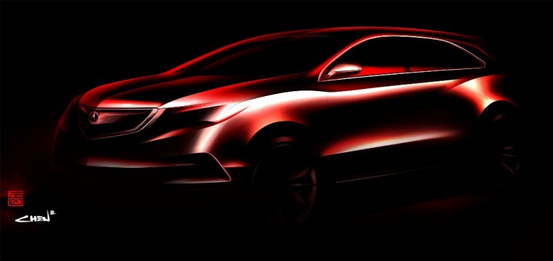 Acura Teases Next Generation MDX Sketch Ahead of January Debut general news