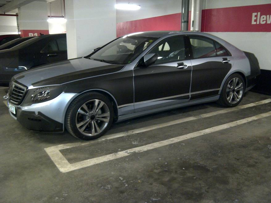 lightly camoed s class spied in toronto parking garage. Black Bedroom Furniture Sets. Home Design Ideas