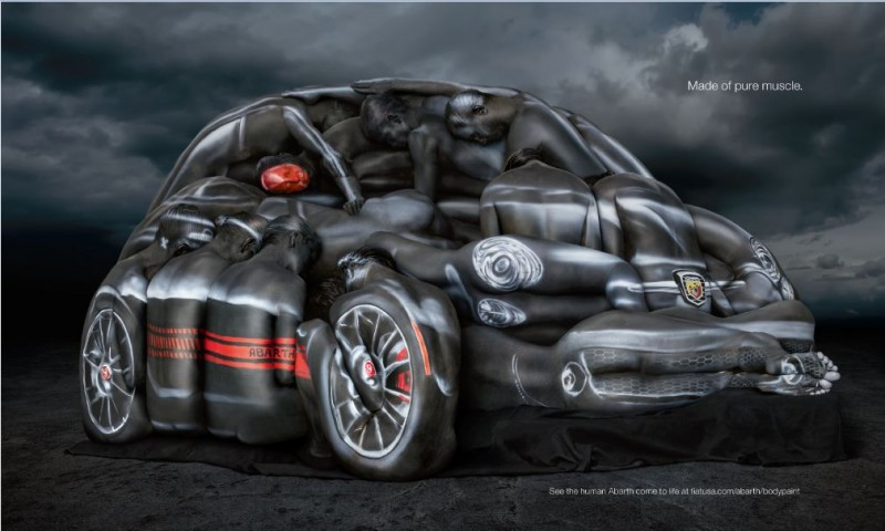 VIDEO: Fiat Turns Sexy Women Into Sexy Abarth Cabrio With Body Paint auto news general news