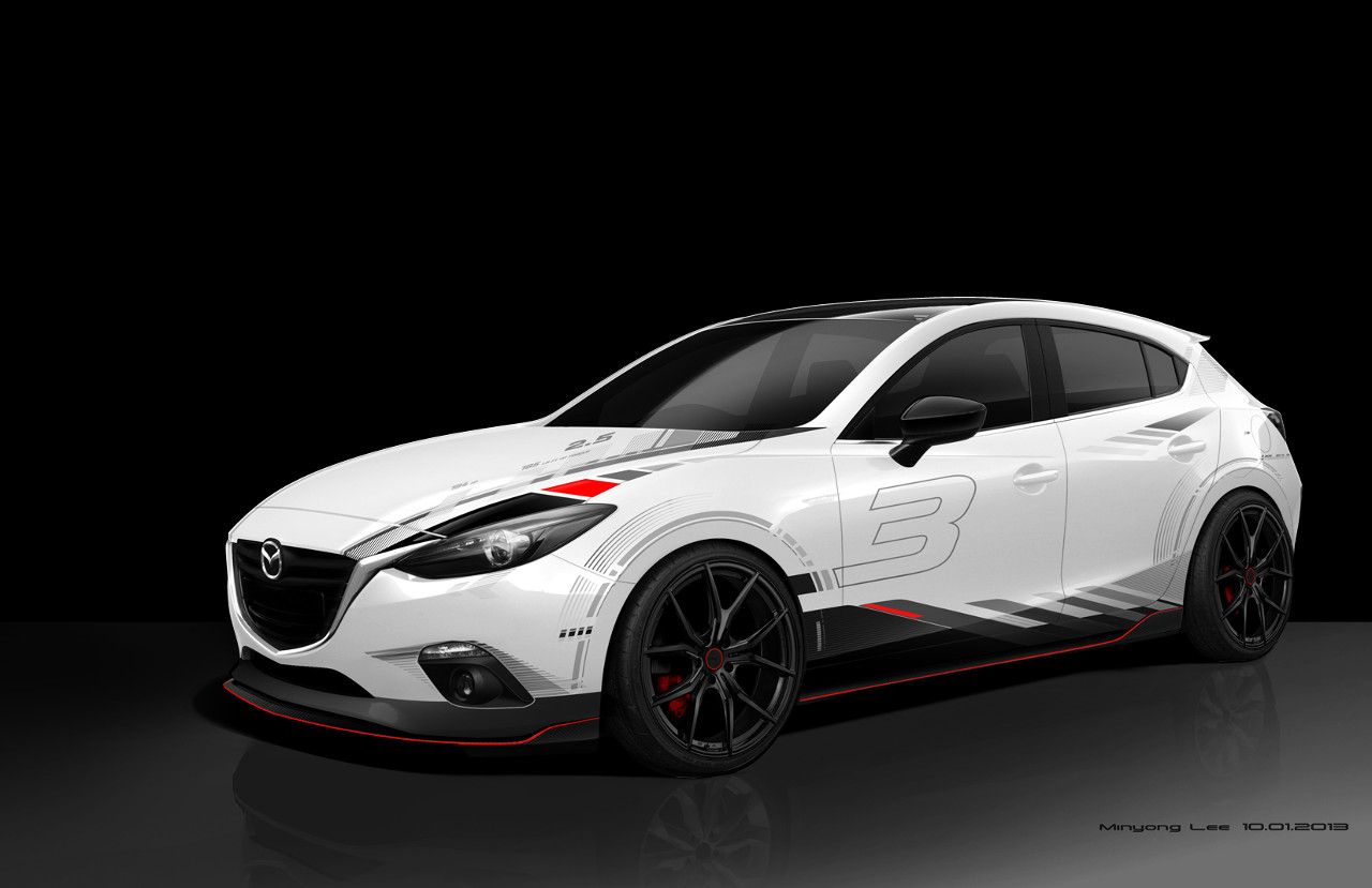 Car sticker designs images - Mazda 3 Sema Concept_3
