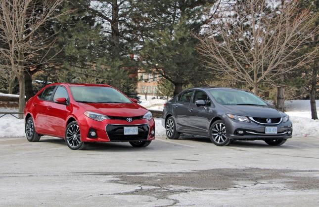Comparison Test: 2014 Honda Civic vs 2014 Toyota Corolla - Autos.ca