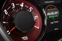 2015 Dodge Challenger SRT Hellcat tachometer gauge, which provid
