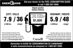 Vehicle EnerGuide Label 2014