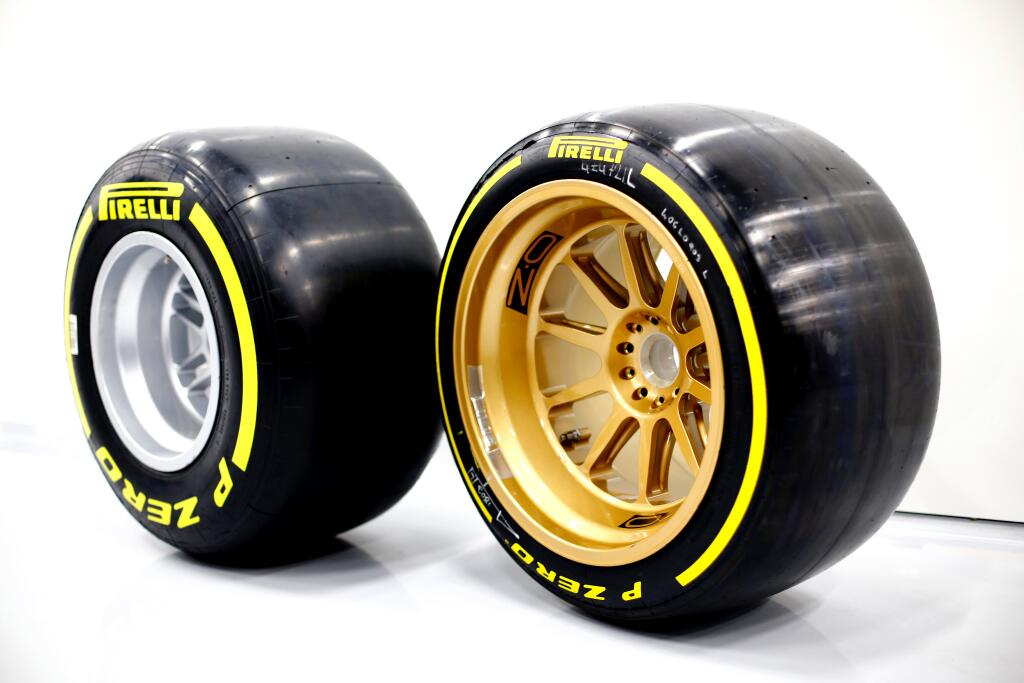 This Is What Normal Wheels Look Like On A Formula 1 Car