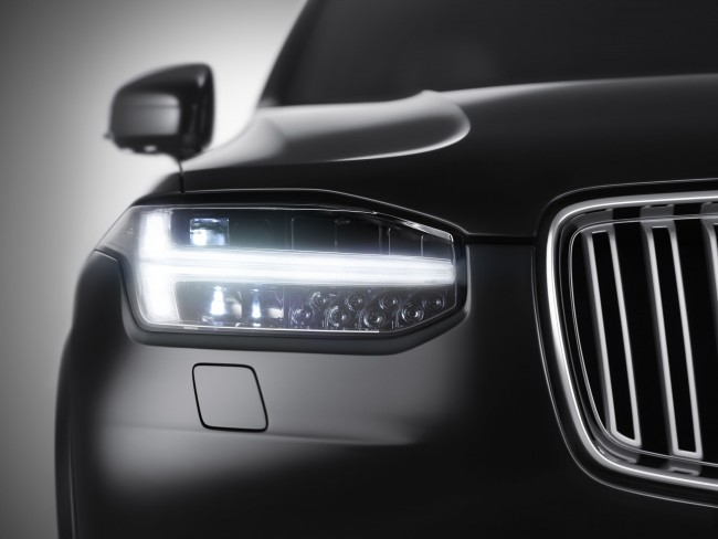 Volvo Shows Off XC90s Scalable Product Architecture With Headlight Teaser general news auto news