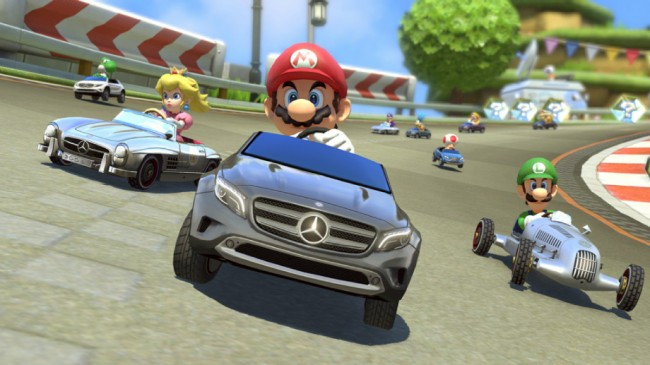 Mercedes Benz Vehicles Appear in Mario Kart 8 general news auto news