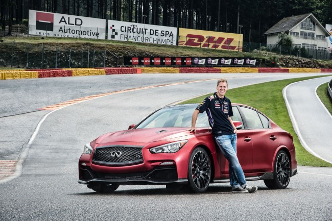 Infiniti Runs Eau Rouge Through Eau Rouge, Teases New Flagship Sedan general news car culture auto shows auto news 2014 paris motor show 2014 auto shows