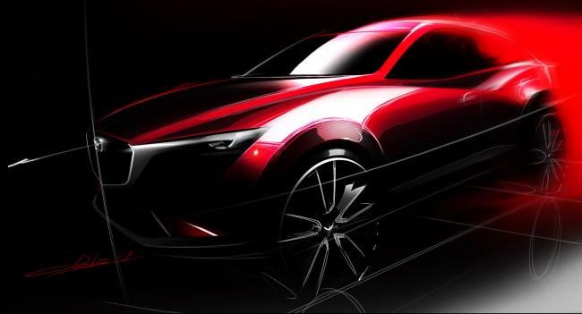 Mazda CX-3 design sketch