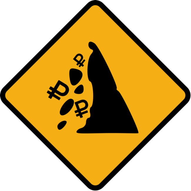 Falling Ruble Sign