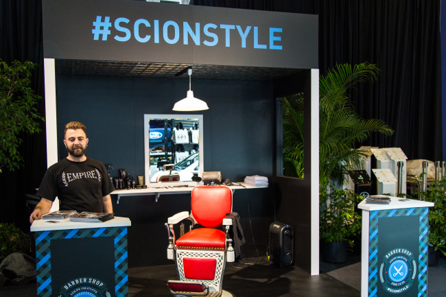 Scion #ScionStyle Barber Shop - Montreal International Auto Show