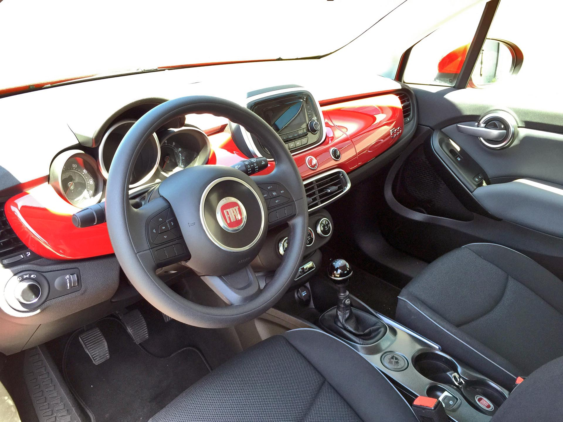 2016 fiat 500x pop for Fiat 500 x interieur