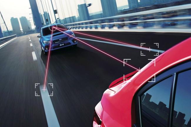 Subaru Eyesight Lane-Keeping and Collision Avoidance