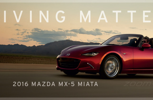"""Mazda zooms in with new company slogan: """"Driving Matters ..."""
