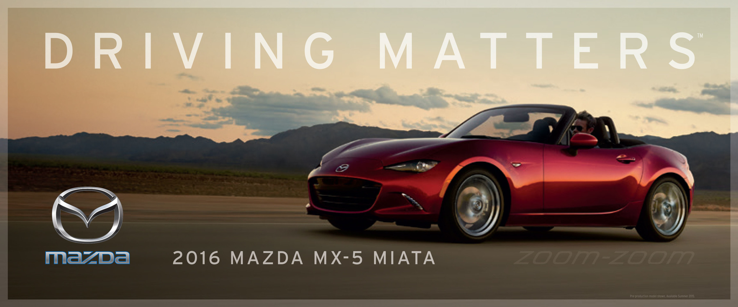 """Mazda Zooms In With New Company Slogan: """"Driving Matters"""