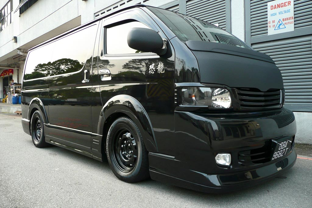 modified toyota hiace   autos ca