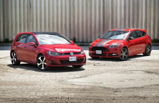 Focus St Vs Gti >> Comparison Test 2015 Ford Focus St Vs 2015 Volkswagen Gti Autos Ca