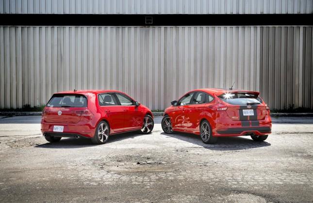 Comparison Test 2015 Ford Focus ST vs 2015 Volkswagen GTI  Autosca