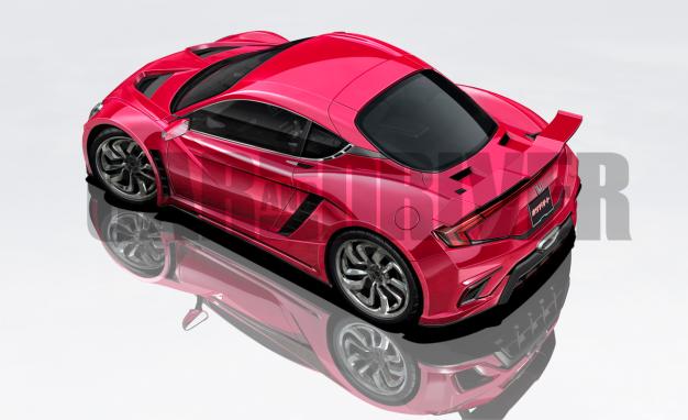 Honda Baby NSX Rendering