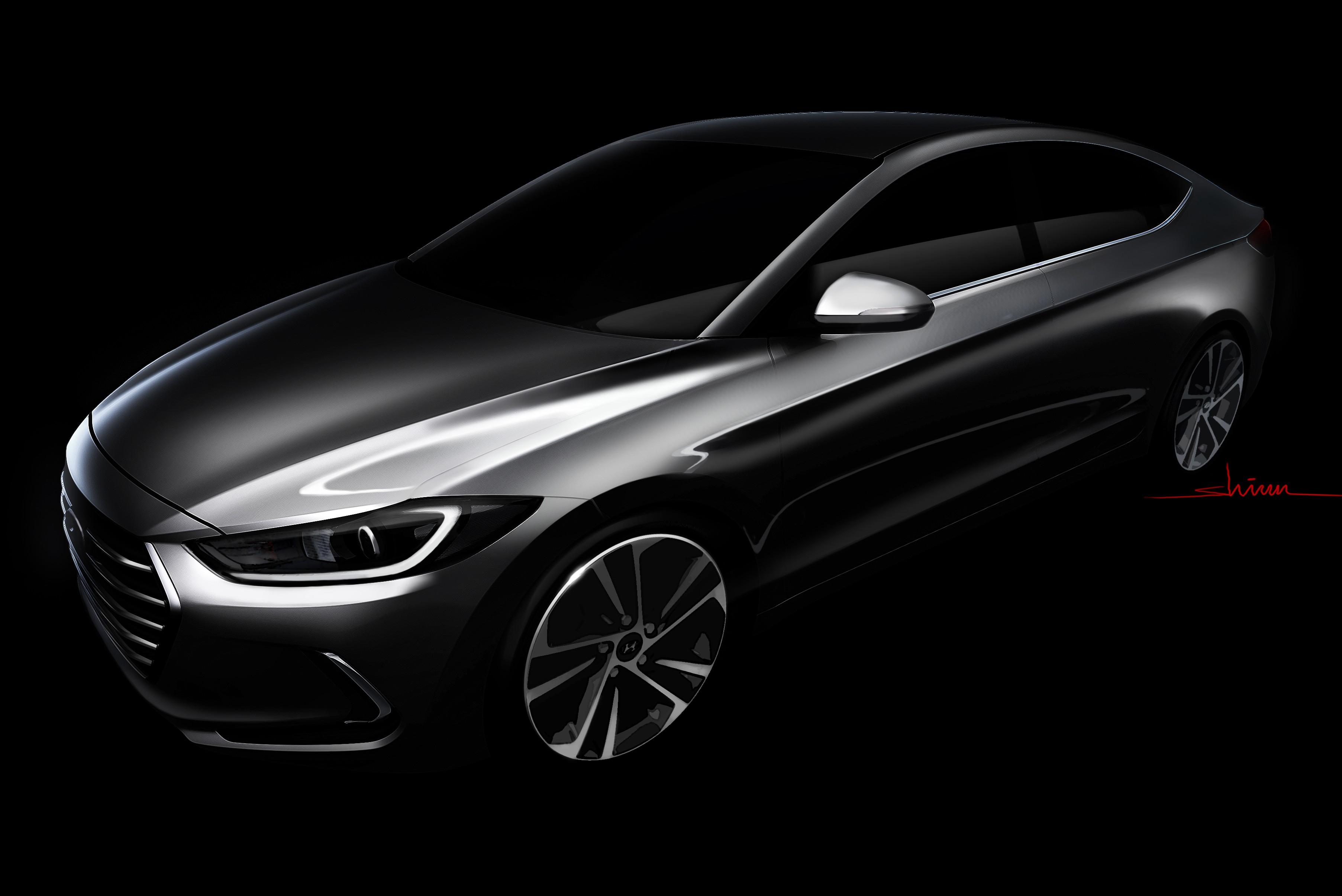 Hyundai releases sketch of all new Elantra Autos