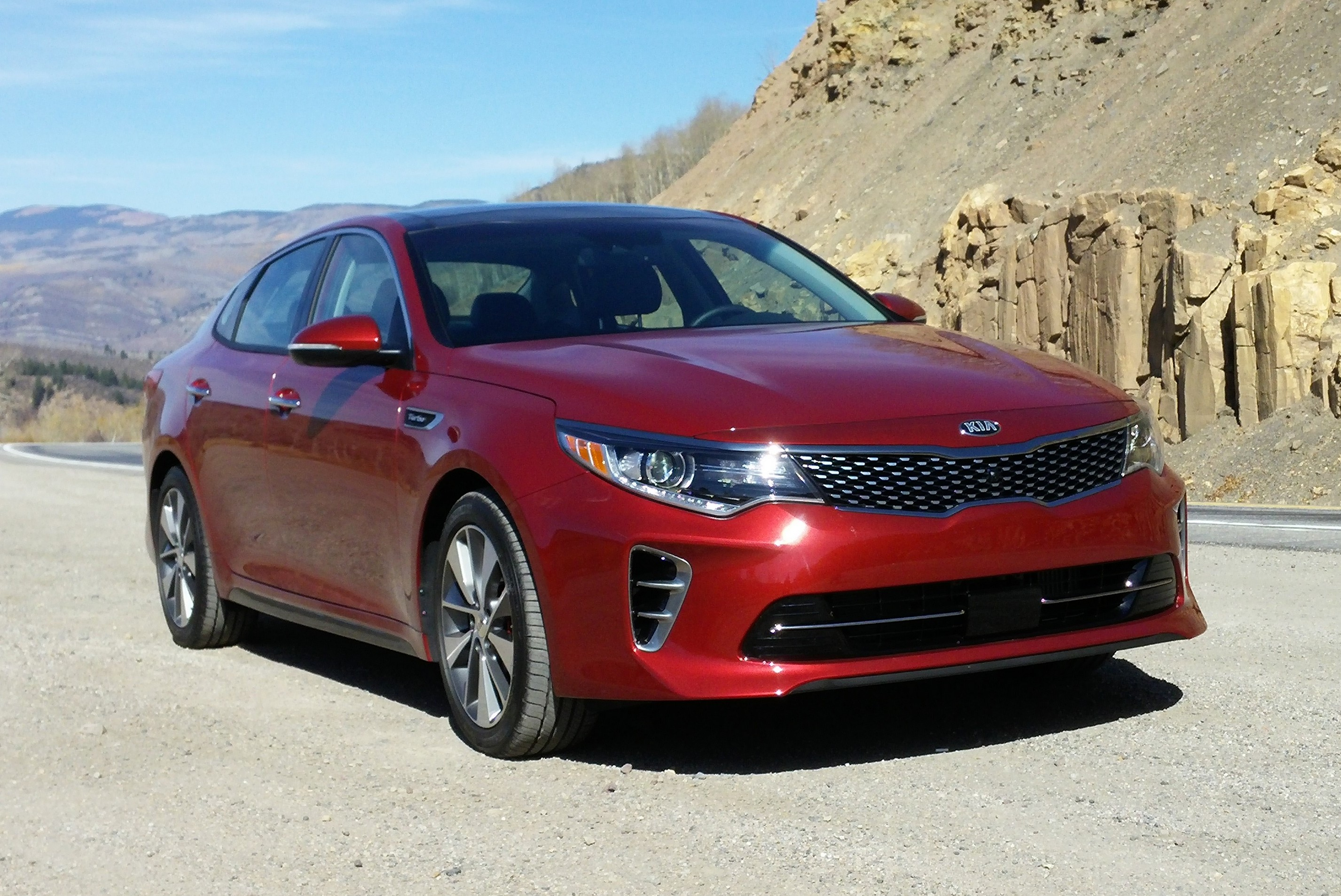 chase drives ca test car optima hybrid drive autos kia