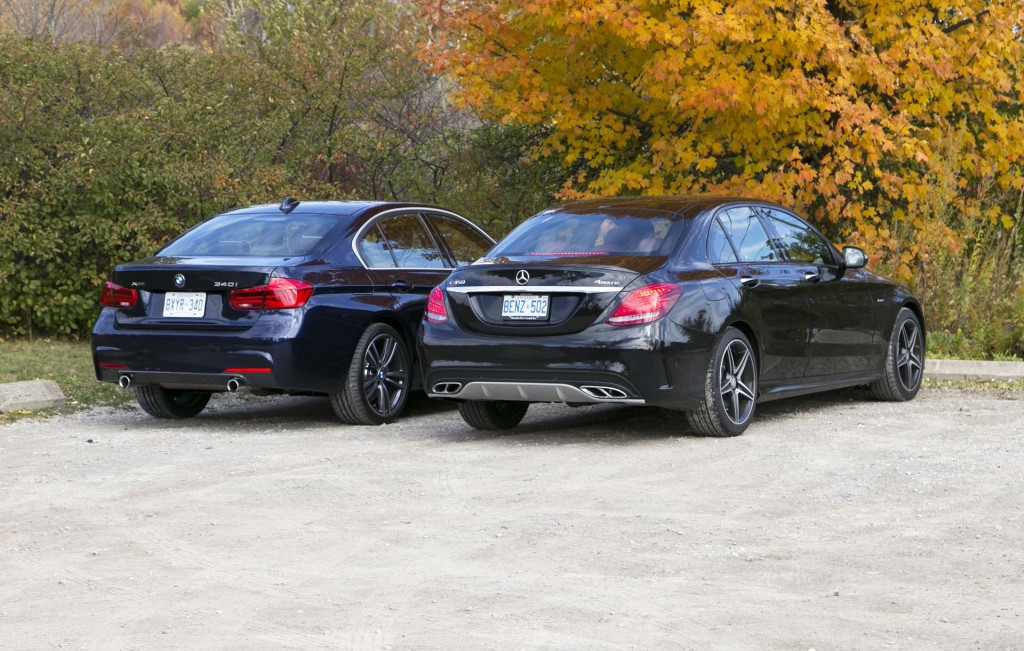 Comparison test 2016 bmw 340i xdrive vs 2016 mercedes for Bmw and mercedes benz
