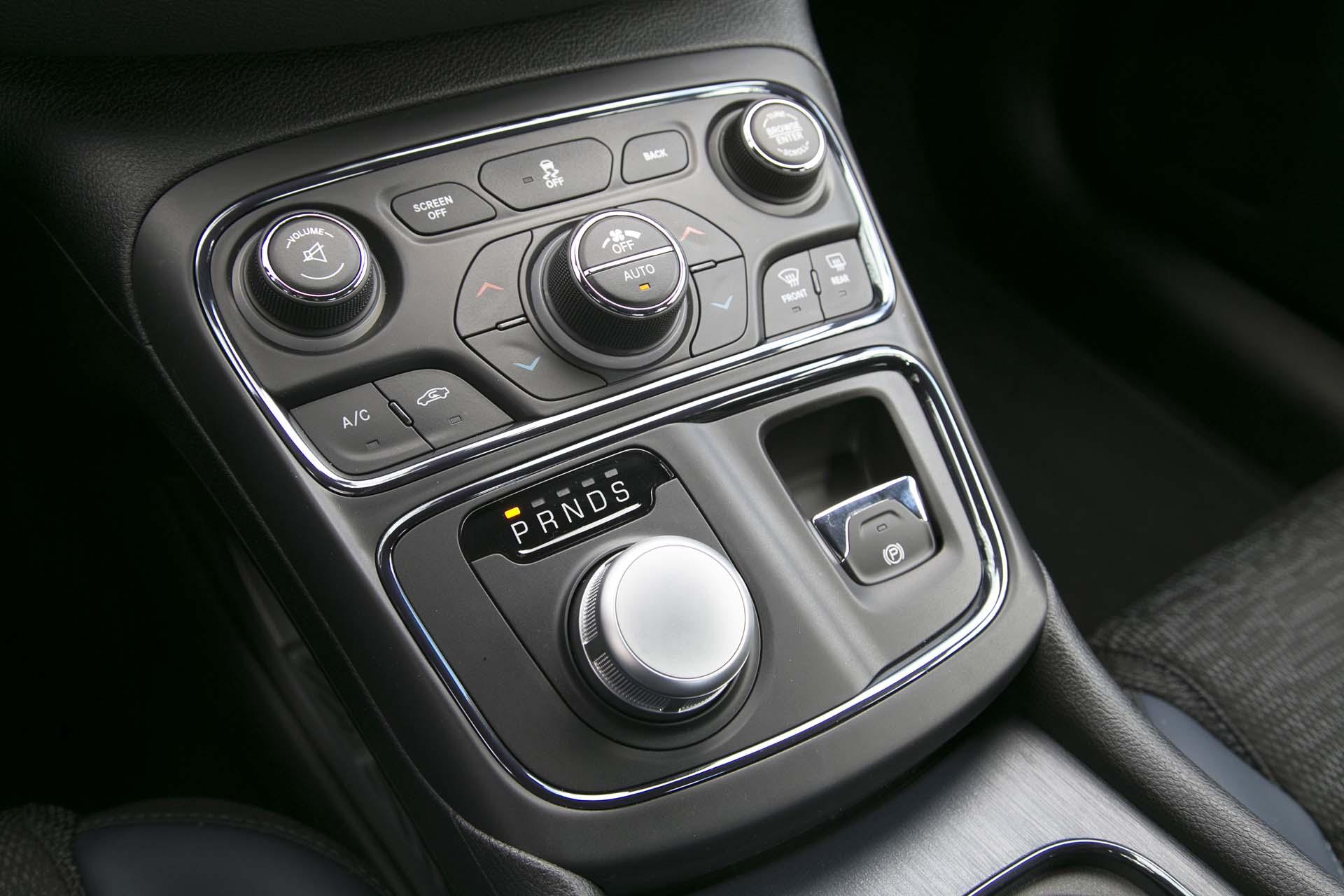 HVAC controls & gear select dial