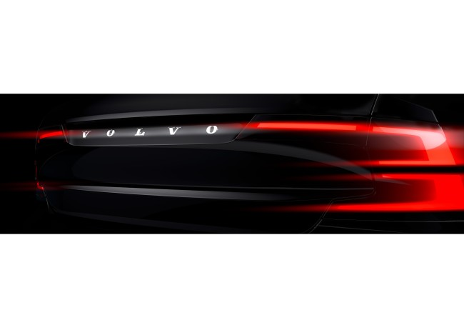 Volvo S90 teaser - rear