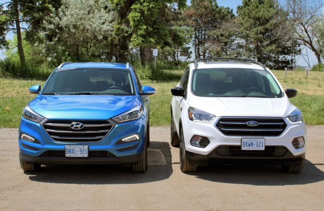hyundai tucson compared to ford escape. Black Bedroom Furniture Sets. Home Design Ideas