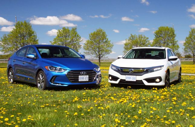 Honda Civic 2016 Vs 2017 >> Comparison Test 2016 Honda Civic Vs Hyundai Elantra Autos Ca