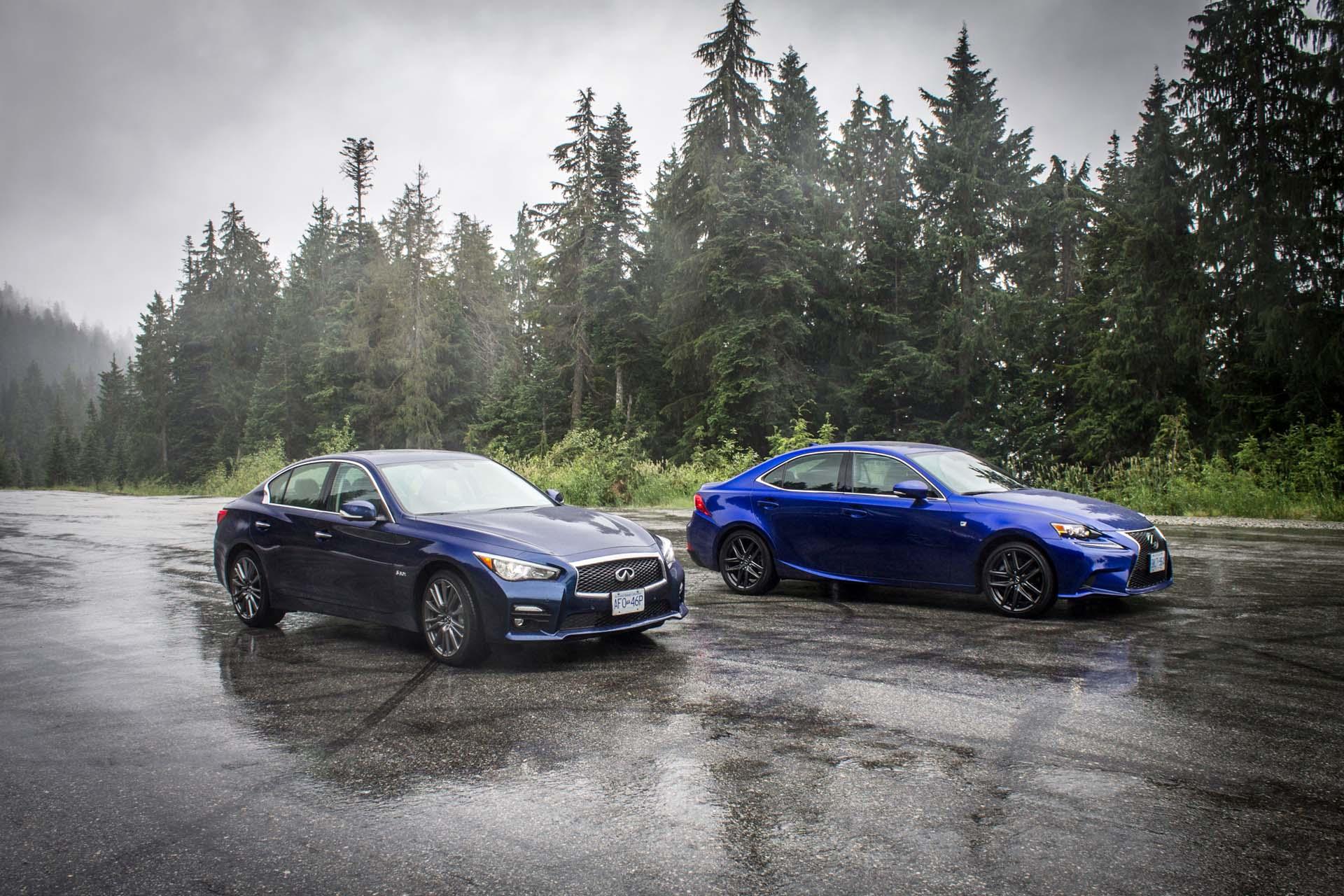 2016 Infiniti Q50 Red Sport 400 AWD vs Lexus IS 350 F Sport AWD