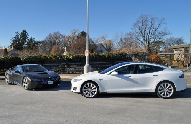 Quick Comparison Bmw I8 Vs Tesla P85d Autosca