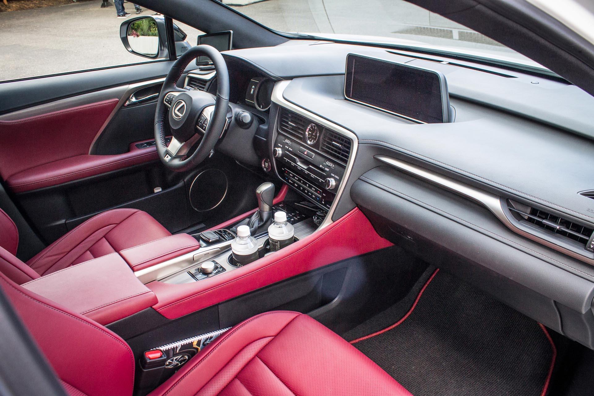 Lexus rx f sport red interior for Lexus rx 350 f sport red interior