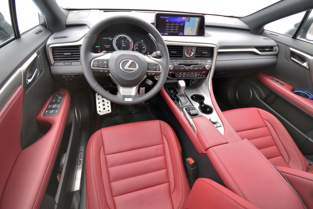 Lexus Rx 350 F Sport Red Interior